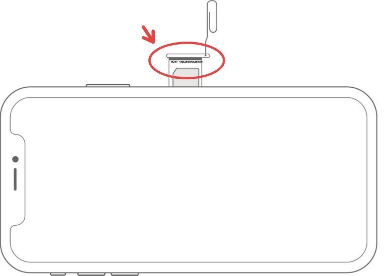 IMEI iCloud SIM Tray location